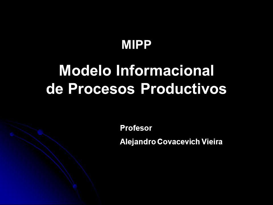 MIPP Modelo Informacional de Procesos Productivos Profesor Alejandro Covacevich Vieira