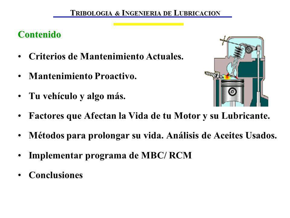 Sistema de Certificación y Calidad Nuevo Sistema Mundial CMA Fabricantes De Aditivos Código Practicas (MTAC) EOLCS (CMA - API -AMMA) Incluye API-ASTM-SAE ILSAC (AAMA - JAMA) Fabricantes de Motores EELQMS (ACEA-ATIEL) ATC (CMA)-CEC (ASTM) SAE (AAMA - EMA) Definición de Necesidades JASO-API-ISO- TISI (ACEA - ILSAC-NMMA- ATIEL) Fabricantes de Motores T RIBOLOGIA & I NGENIERIA DE L UBRICACION