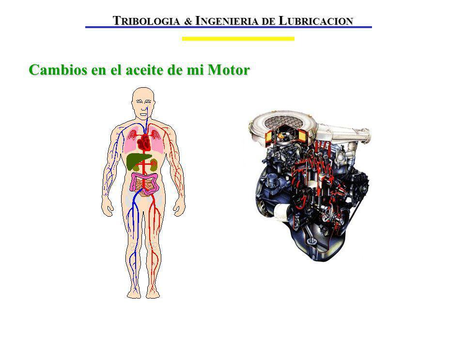 Cambios en el aceite de mi Motor T RIBOLOGIA & I NGENIERIA DE L UBRICACION