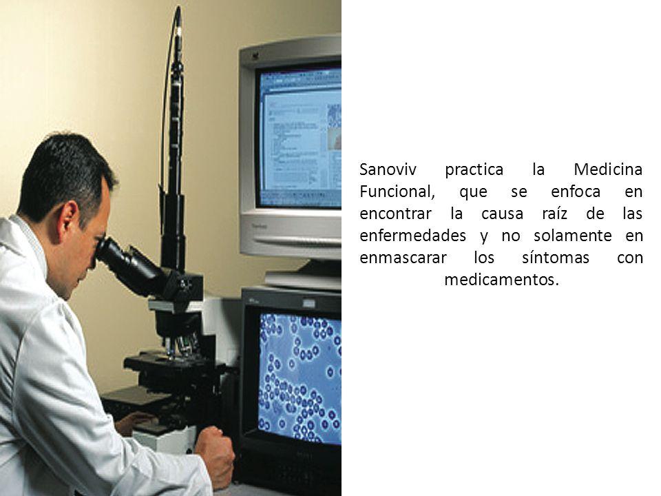 Sanoviv practica la Medicina Funcional, que se enfoca en encontrar la causa raíz de las enfermedades y no solamente en enmascarar los síntomas con med
