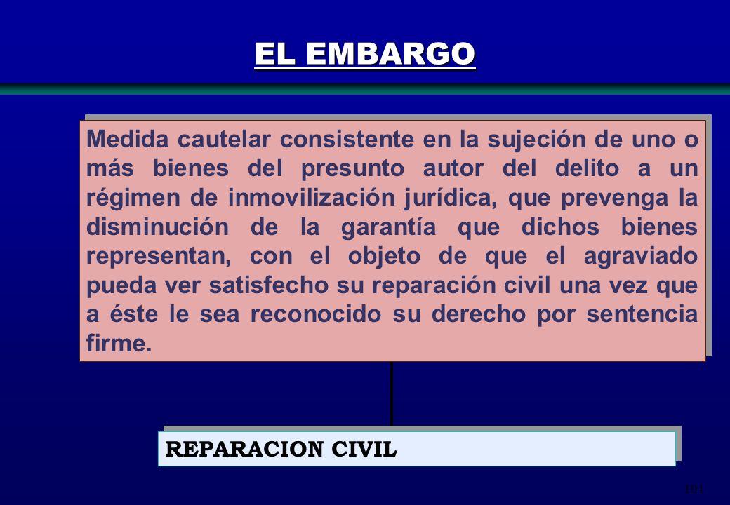 101 Medida cautelar consistente en la sujeción de uno o más bienes del presunto autor del delito a un régimen de inmovilización jurídica, que prevenga