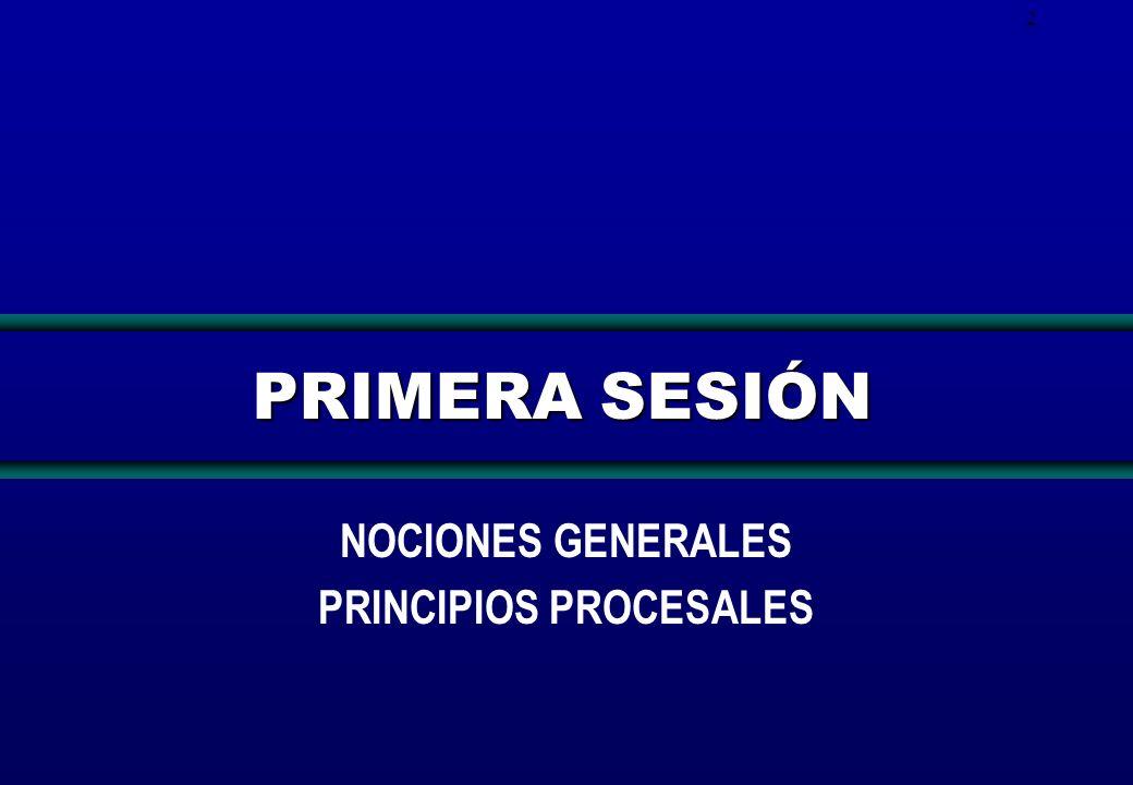 2 PRIMERA SESIÓN NOCIONES GENERALES PRINCIPIOS PROCESALES