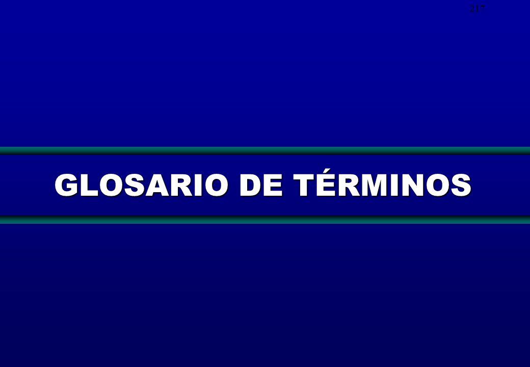 217 GLOSARIO DE TÉRMINOS