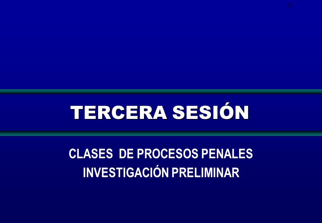 61 TERCERA SESIÓN CLASES DE PROCESOS PENALES INVESTIGACIÓN PRELIMINAR