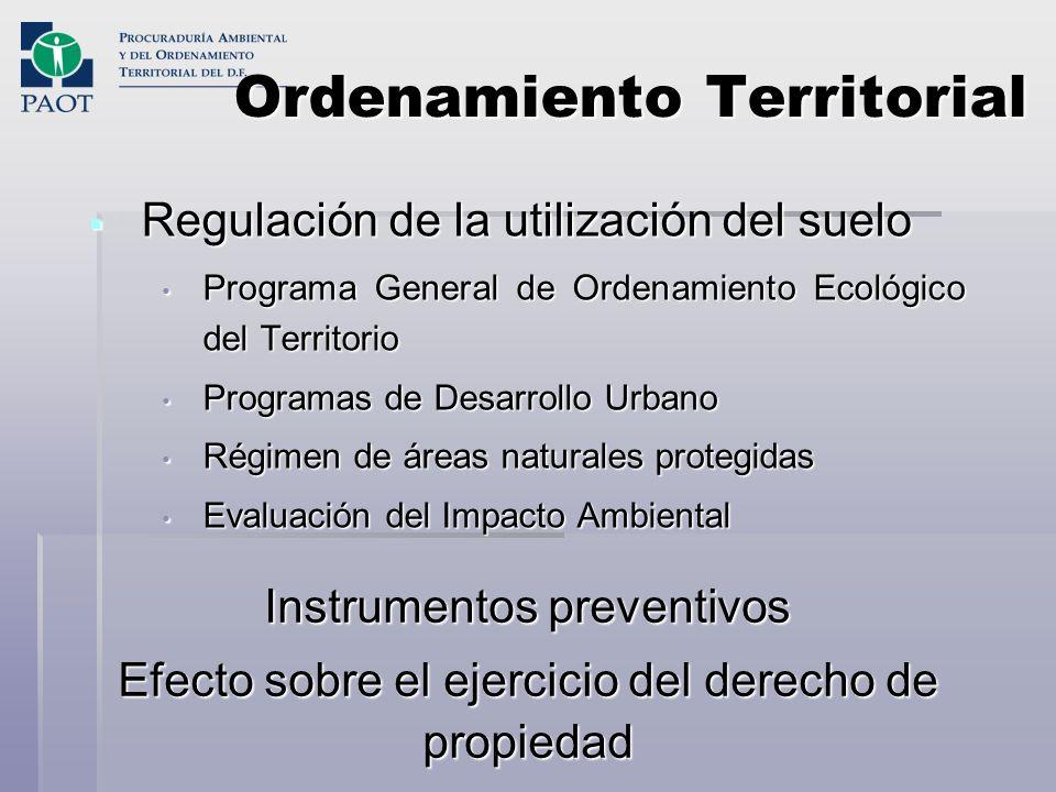 Ordenamiento Territorial Regulación de la utilización del suelo Regulación de la utilización del suelo Programa General de Ordenamiento Ecológico del