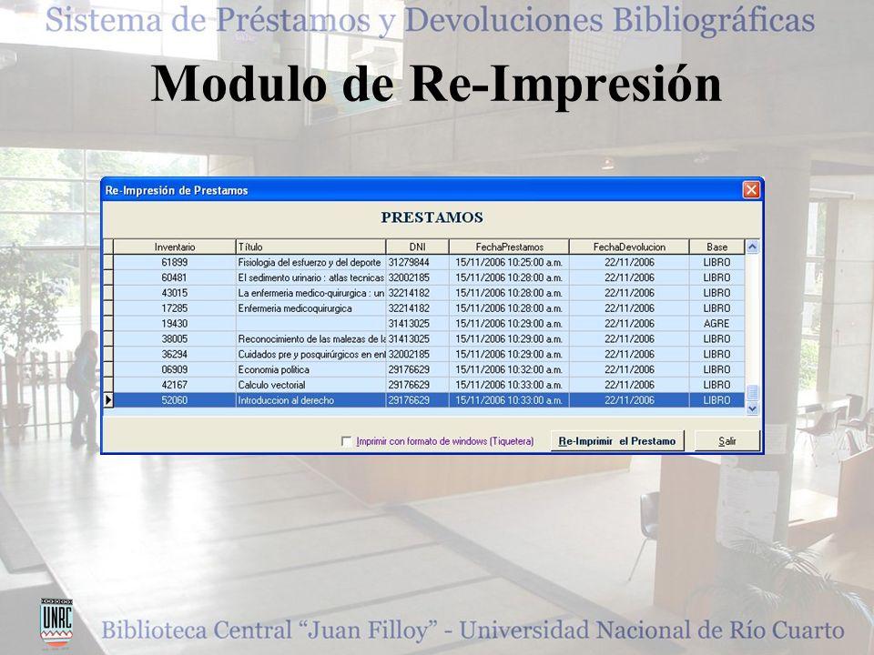 Modulo de Re-Impresión