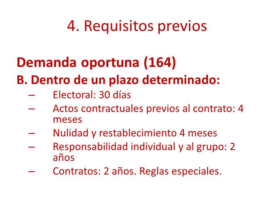 4.Requisitos previos Demanda oportuna (164) B.