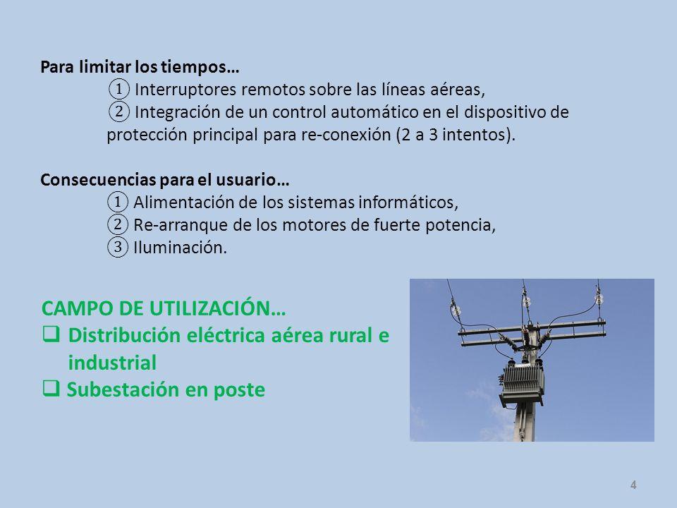 4 Para limitar los tiempos… Interruptores remotos sobre las líneas aéreas, Integración de un control automático en el dispositivo de protección princi