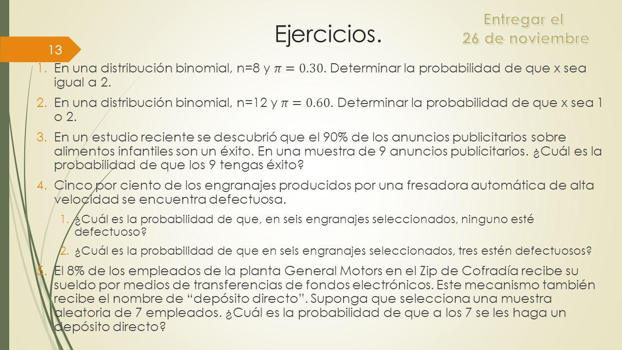 Ejercicios. 13