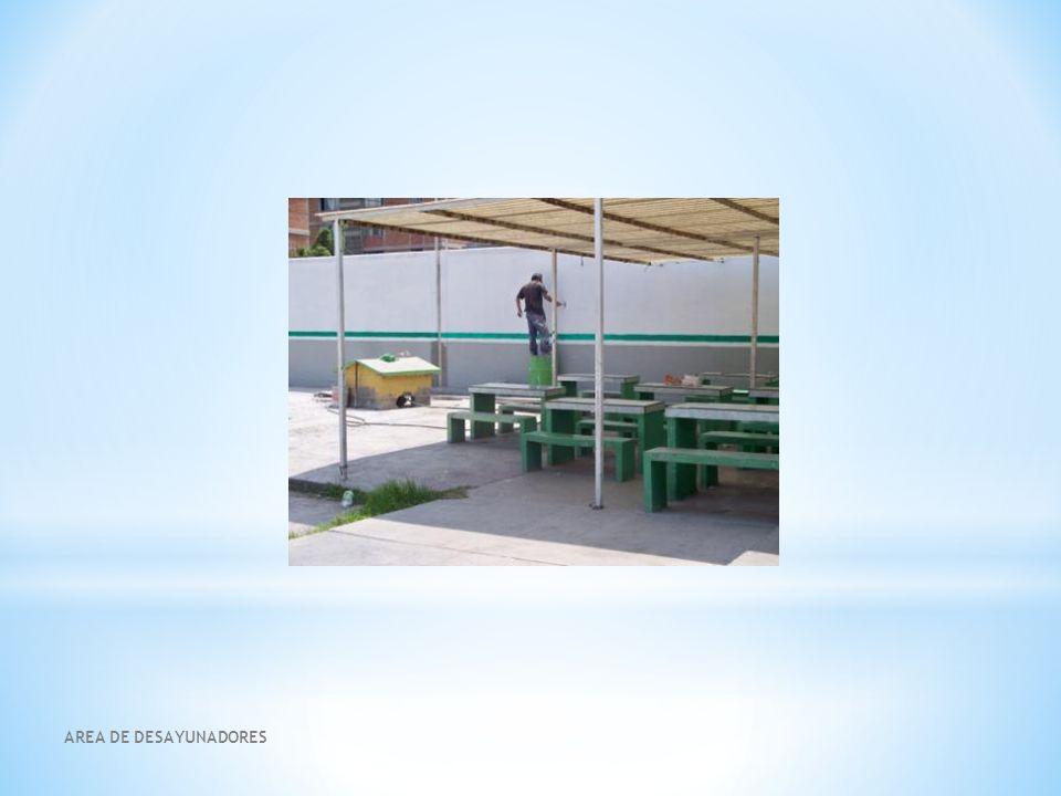 * Reparación de las bancas * Colocarlas en todo el patio escolar, considerando sitios estratégicos para su uso.