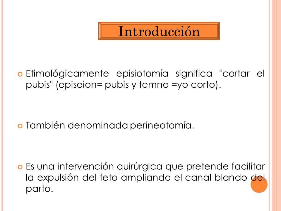 Etimológicamente episiotomía significa