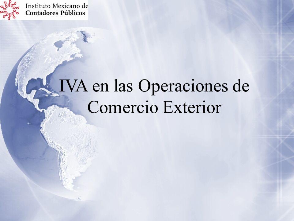 IVA en las Operaciones de Comercio Exterior