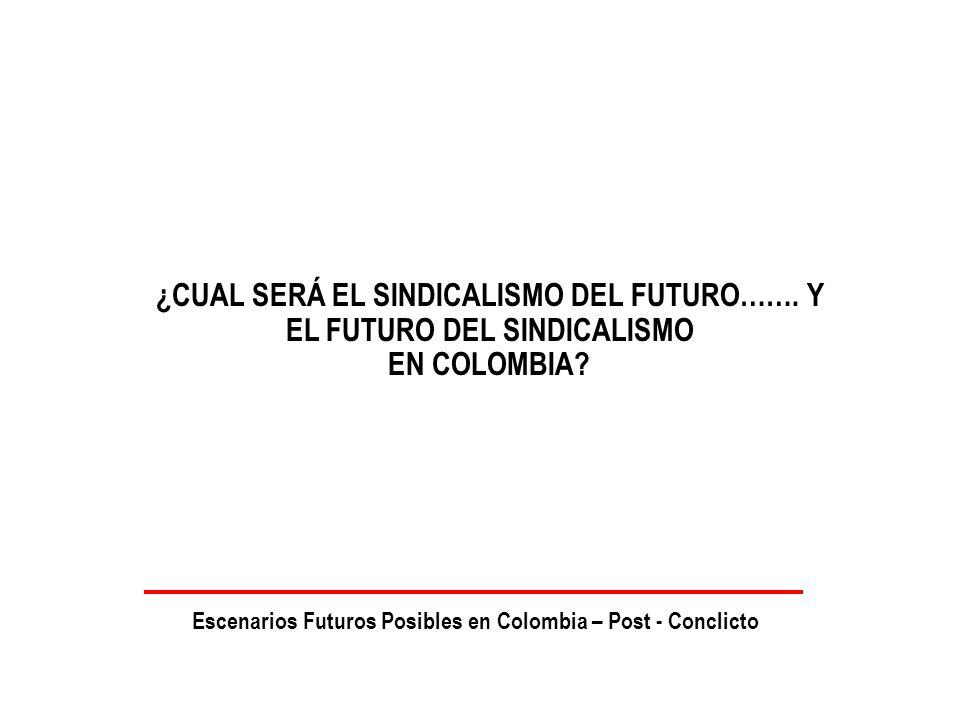 ¿CUAL SERÁ EL SINDICALISMO DEL FUTURO……. Y EL FUTURO DEL SINDICALISMO EN COLOMBIA.