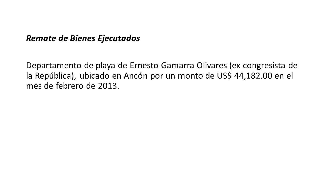 Remate de Bienes Ejecutados Departamento de playa de Ernesto Gamarra Olivares (ex congresista de la República), ubicado en Ancón por un monto de US$ 4