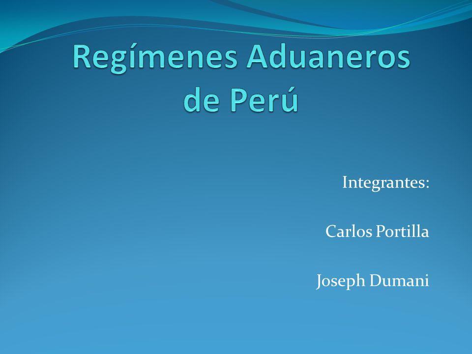 Integrantes: Carlos Portilla Joseph Dumani