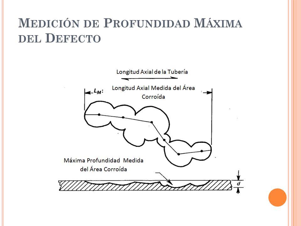 M EDICIÓN DE P ROFUNDIDAD M ÁXIMA DEL D EFECTO