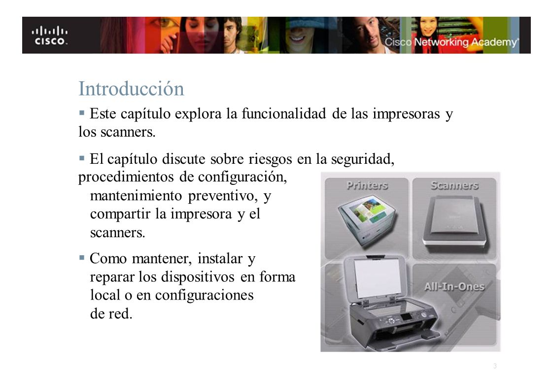 Instituto Tecnológico de Costa Rica Escuela de Ingeniería Electrónica Introducción Este capítulo explora la funcionalidad de las impresoras y los scan