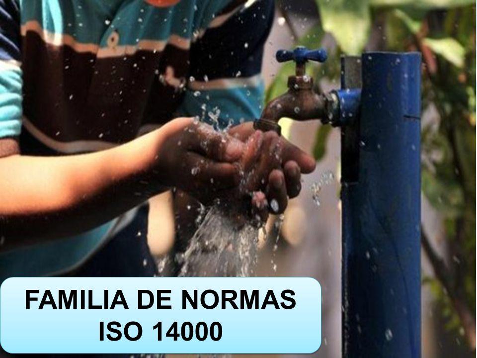 FAMILIA DE NORMAS ISO 14000 FAMILIA DE NORMAS ISO 14000