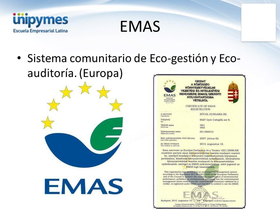 Sistema comunitario de Eco-gestión y Eco- auditoría. (Europa)