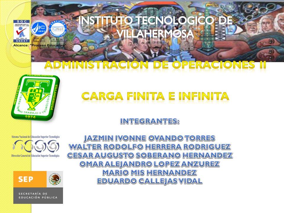 Concepto de Carga Cada trabajo debe tener sus especificaciones únicas de productos, y por tanto, su trayectoria a través de los diversos centros de trabajo dentro de las instalaciones.