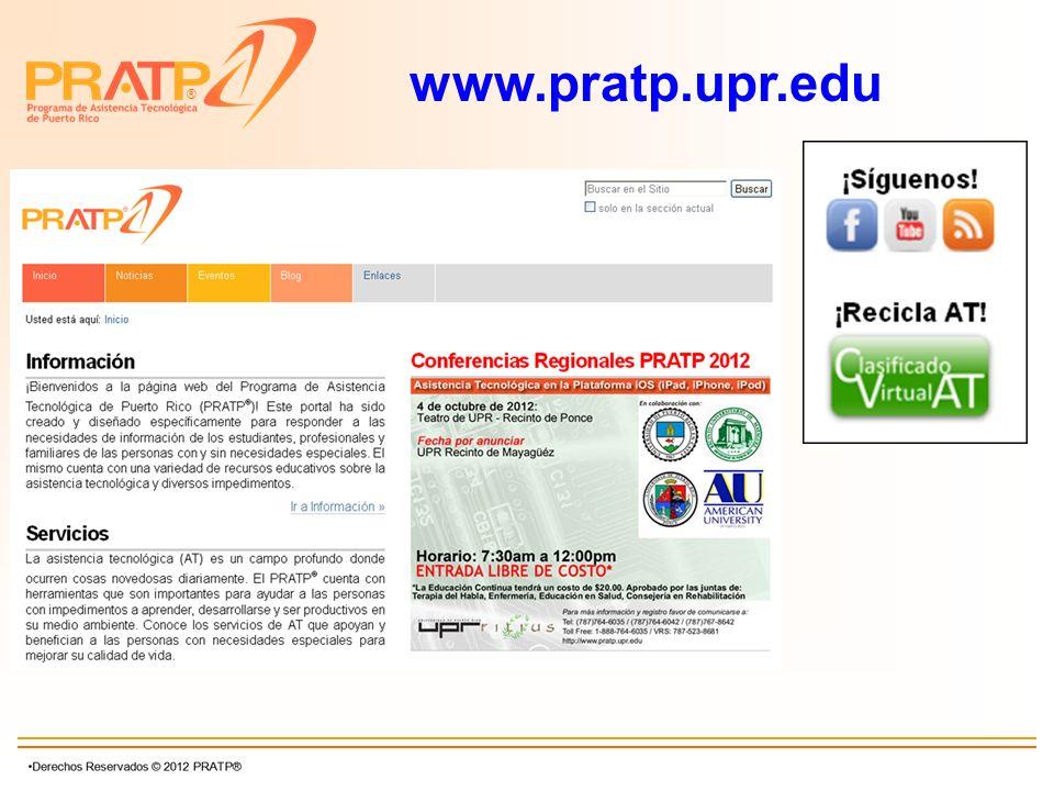 ® www.pratp.upr.edu