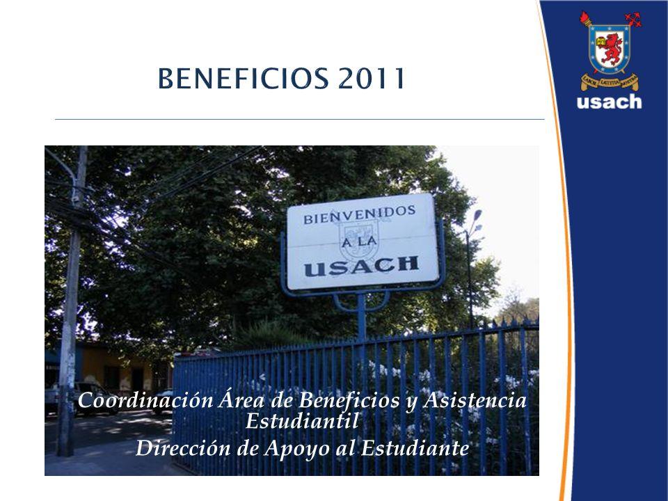 Coordinación Área de Beneficios y Asistencia Estudiantil Dirección de Apoyo al Estudiante