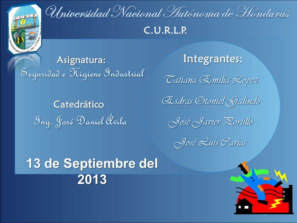 C.U.R.L.P. Asignatura: Catedrático 13 de Septiembre del 2013 Integrantes: