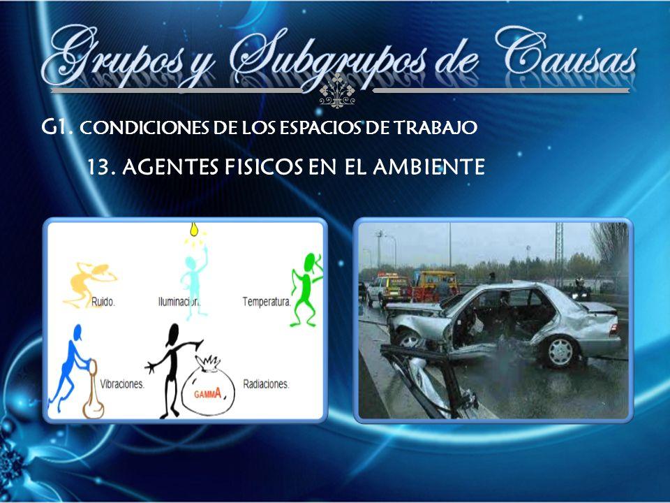 G1. CONDICIONES DE LOS ESPACIOS DE TRABAJO 13. AGENTES FISICOS EN EL AMBIENTE