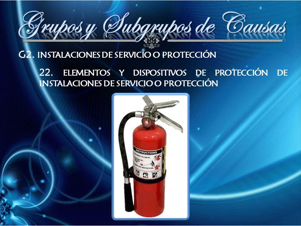G2. INSTALACIONES DE SERVICIO O PROTECCIÓN 22.