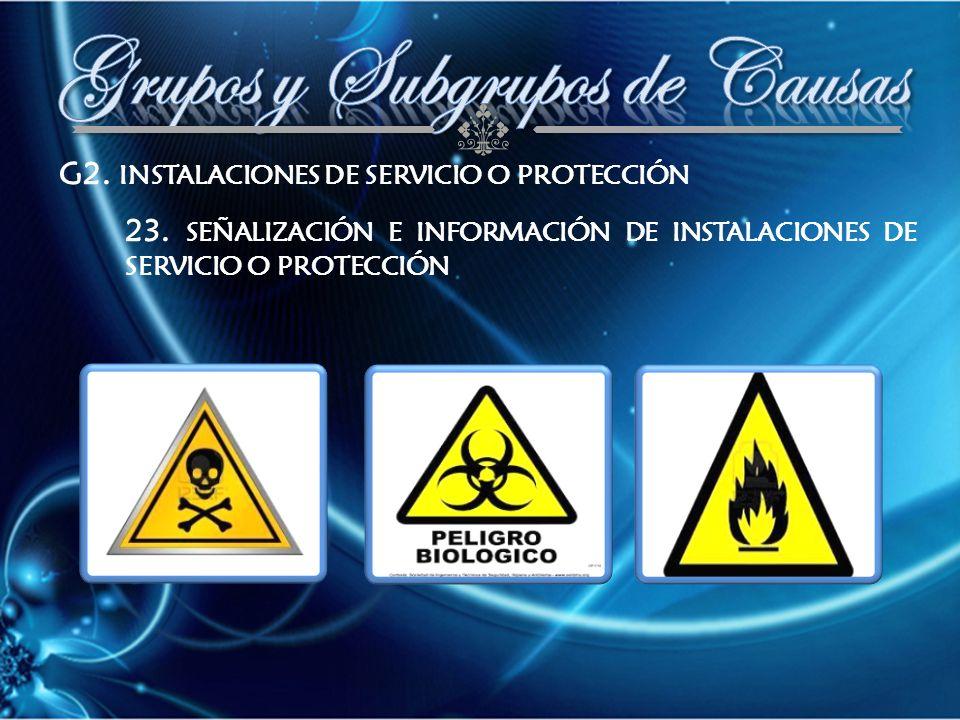 G2. INSTALACIONES DE SERVICIO O PROTECCIÓN 23.