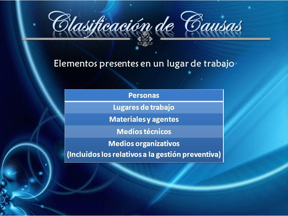 G5. MATERIALES Y AGENTES CONTAMINANTES 51. MANIPULACIÓN Y ALMACENAMIENTO DE MATERIALES