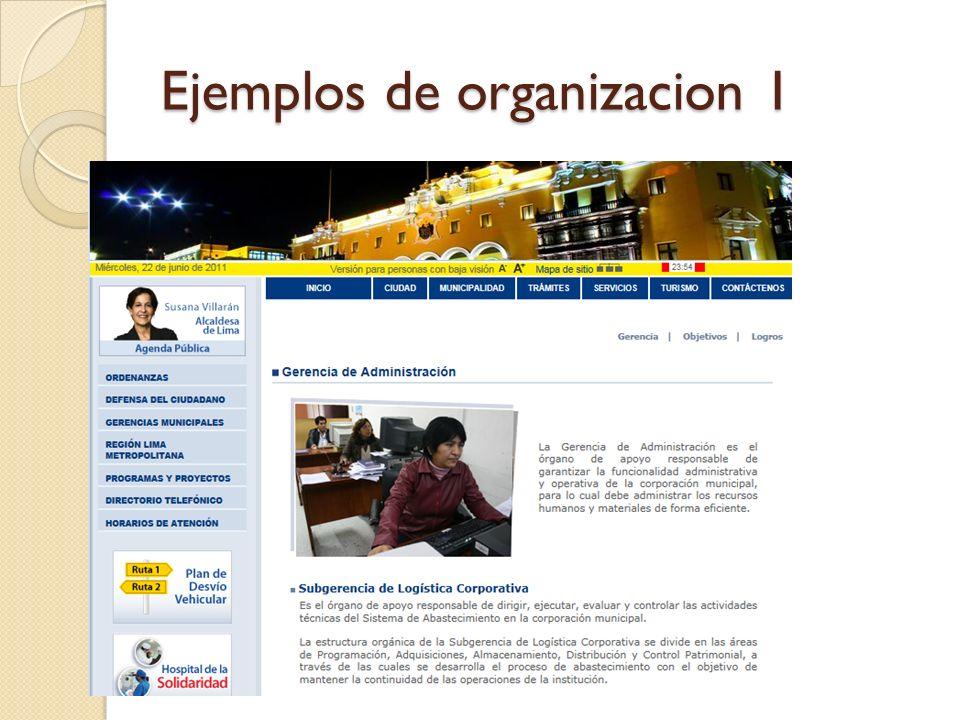 Ejemplos de organizacion 1