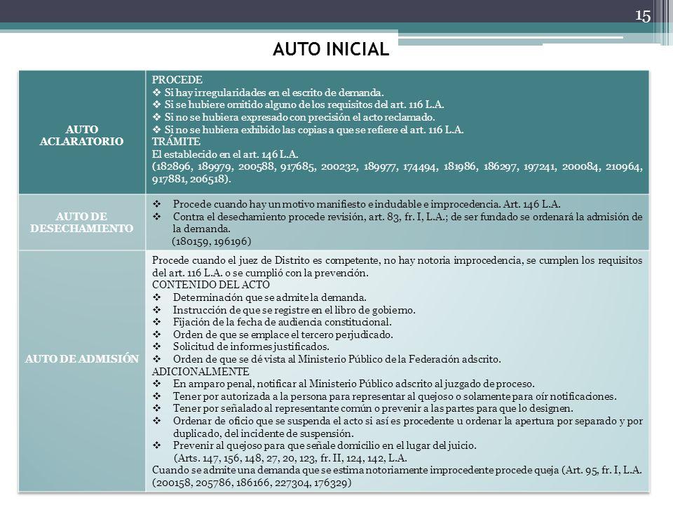 AUTO INICIAL 15