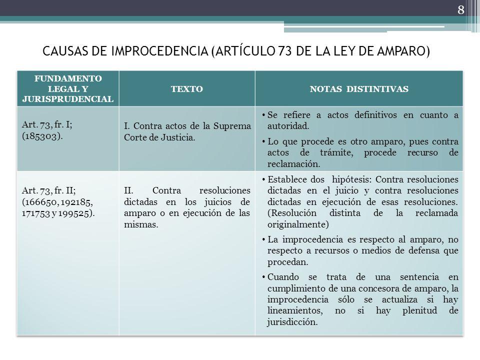 4. CARACTERÍSTICAS ESPECIALES DEL AMPARO EN MATERIA ADMINISTRATIVA 29