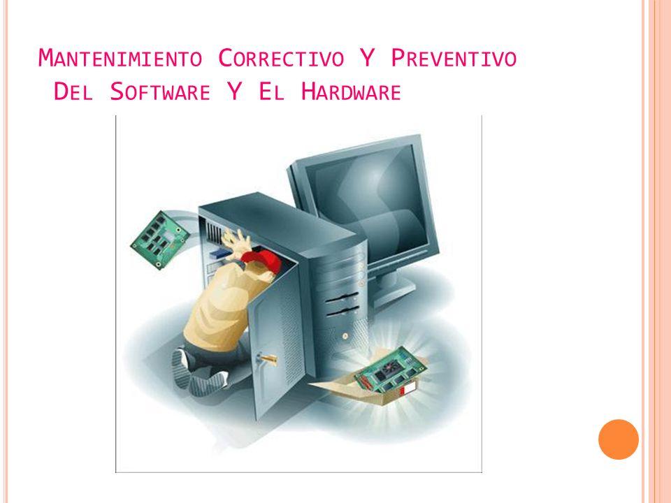 M ANTENIMIENTO C ORRECTIVO Y P REVENTIVO D EL S OFTWARE Y E L H ARDWARE
