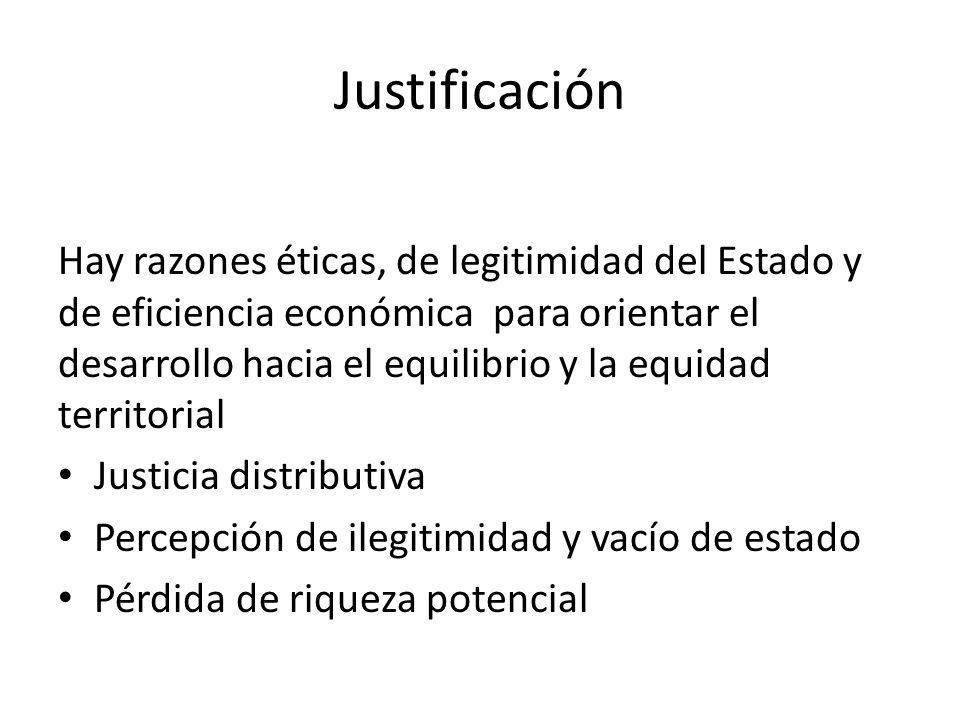 Justificación Hay razones éticas, de legitimidad del Estado y de eficiencia económica para orientar el desarrollo hacia el equilibrio y la equidad ter