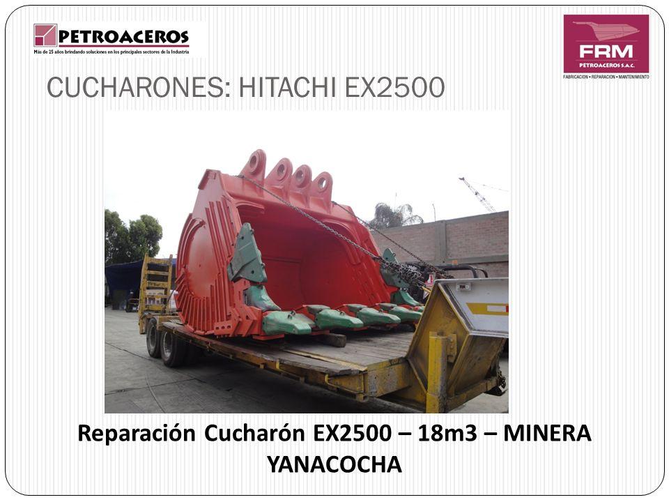 Reparación Cucharón EX2500 – 18m3 – MINERA YANACOCHA CUCHARONES: HITACHI EX2500