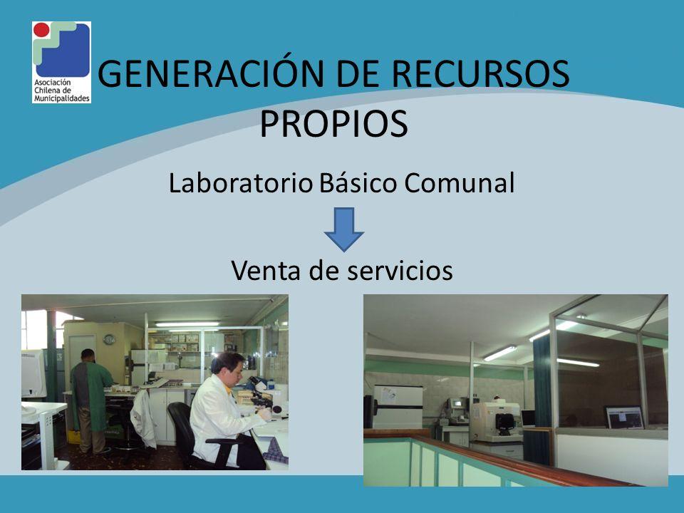 GENERACIÓN DE RECURSOS PROPIOS Laboratorio Básico Comunal Venta de servicios