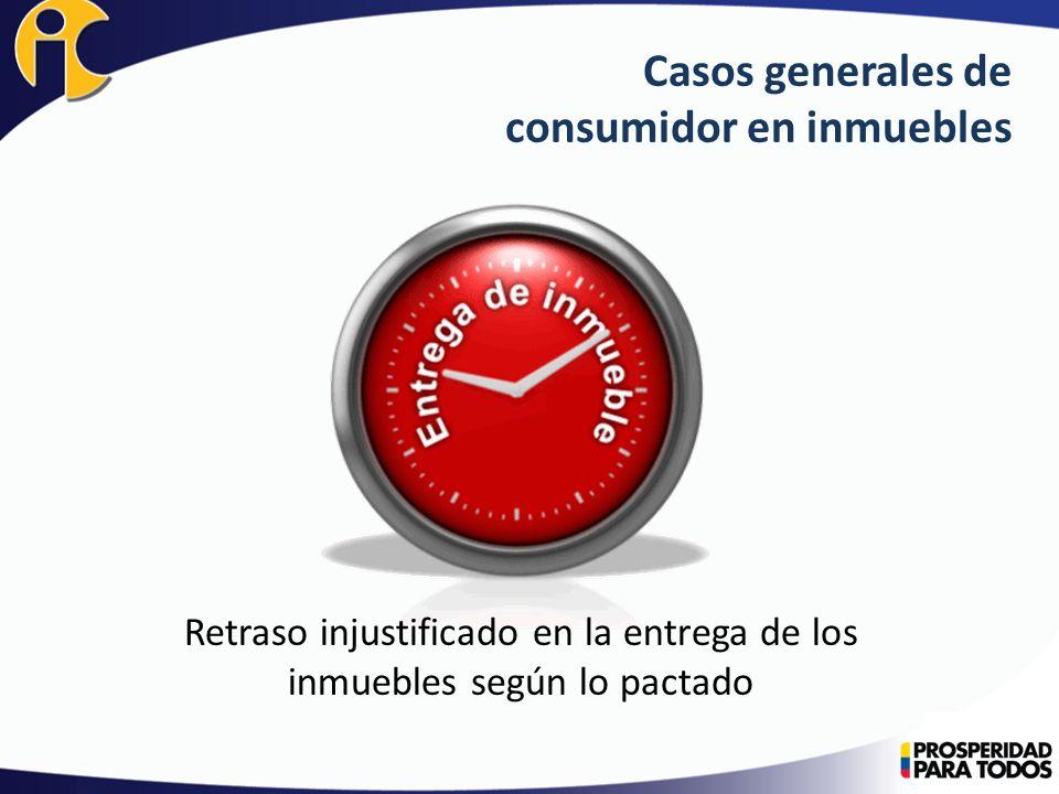 Casos generales de consumidor en inmuebles Metraje entregado en áreas comunes y áreas privadas