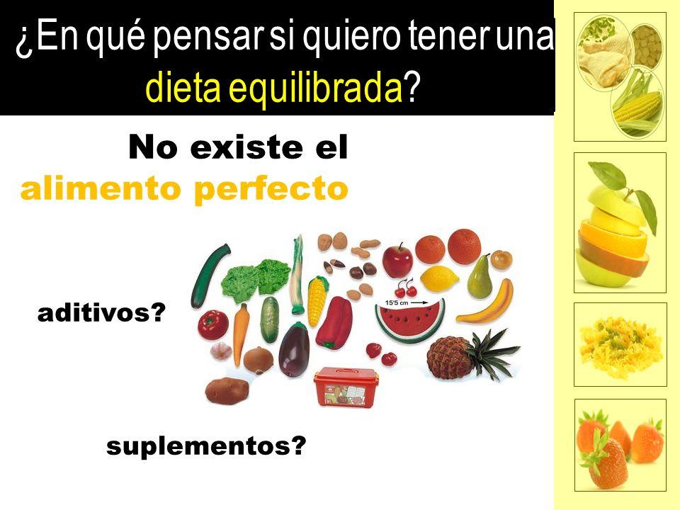 No existe el alimento perfecto suplementos? aditivos?