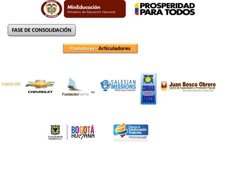 Promotores - Articuladores FASE DE CONSOLIDACIÓN