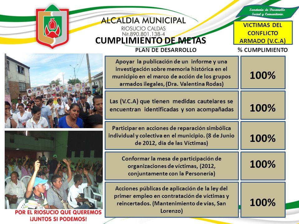 100% Apoyar la publicación de un informe y una investigación sobre memoria histórica en el municipio en el marco de acción de los grupos armados ilega