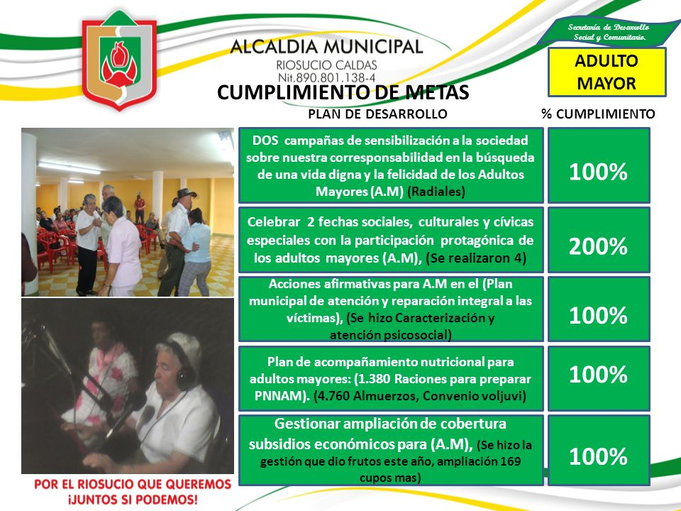 RED UNIDOS CUMPLIMIENTO DE METAS Se entregaron 12 Libretas Militares gratuitamente.