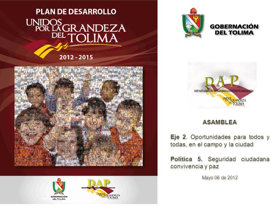 ASAMBLEA Eje 2. Oportunidades para todos y todas, en el campo y la ciudad Política 5.
