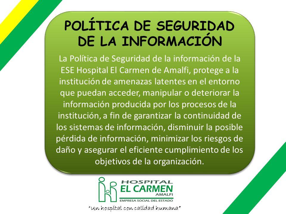 · Política de Seguridad de la Información · Resolución 02 del 02 de enero de 2010 Por la cual se adopta el reglamento para el uso y manejo del sistema