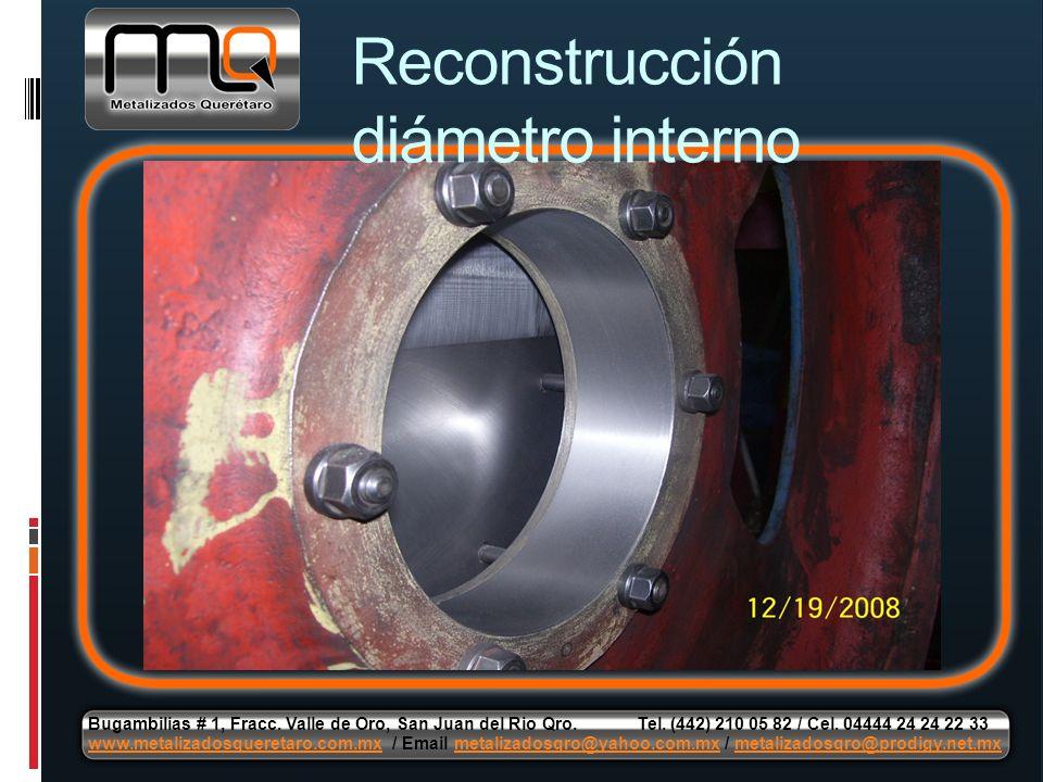 Reconstrucción diámetro interno Bugambilias # 1, Fracc. Valle de Oro, San Juan del Rio Qro. Tel. (442) 210 05 82 / Cel. 04444 24 24 22 33 www.metaliza