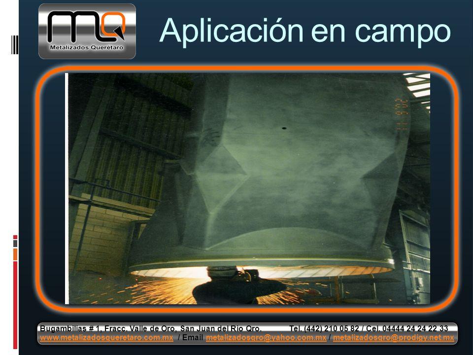 Aplicación en campo Bugambilias # 1, Fracc.Valle de Oro, San Juan del Rio Qro.