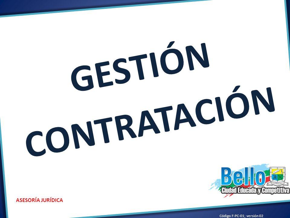 Código F-PC-01; versión 02 ASESORÍA JURÍDICA CONTRATACIÓN 2012 NÚMEROS AUTORIZADOS0527 NÚMEROS LEGALIZADOS469 NUMEROS CANCELADOS17 NÚMEROS SIN LEGALIZAR41 OTROSÍ,ADICION Y/O PRORROGAS49 LEGALIZACIÓN CONTRATOS: REVISIÓN, VERIFICACIÓN, NUMERACIÓN, SOLICITUD DE REGISTRO PRESUPUESTAL, ENTRE OTROS.