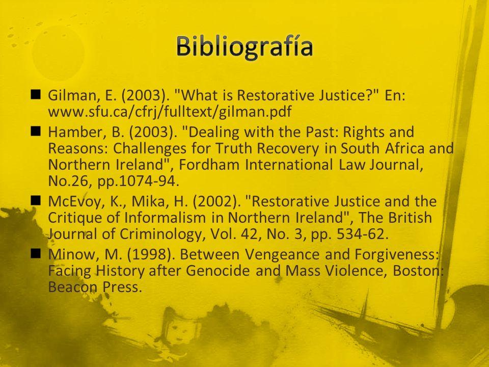 Gilman, E. (2003).
