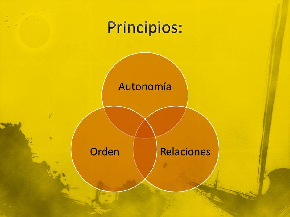 Autonomía RelacionesOrden